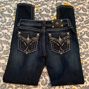 Miss Me Jeans Mid Rise Skinny Jeans EUC Size 27